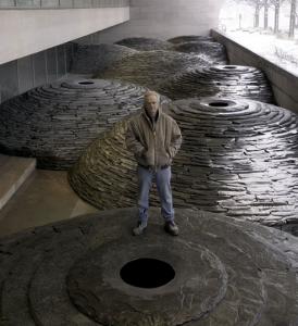 """Roof"" Andy Goldsworthy. February, 2005. Photo by Lee Ewing. National Gallery of Art."
