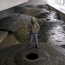 """""""Roof"""" Andy Goldsworthy. February, 2005. Photo by Lee Ewing. National Gallery of Art."""